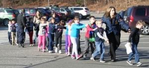 Эвакуация детей из школы